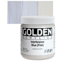 Golden Heavy Body Artist Acrylics - Interference Blue (Fine), 8 oz Jar