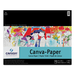 Canson Foundation Canva-Paper Pad - 16'' x 20'', White, 10 sheets