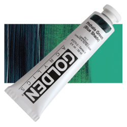 Golden Heavy Body Artist Acrylics - Phthalo Green (Blue Shade), 2 oz Tube