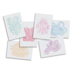 Roylco Rubbing Plates - Henna, 7'' × 10'', Set of 6