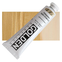 Golden Heavy Body Artist Acrylics - Iridescent Gold (Coarse), 2 oz Tube