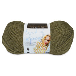Lion Brand Touch of Alpaca Yarn - Olive