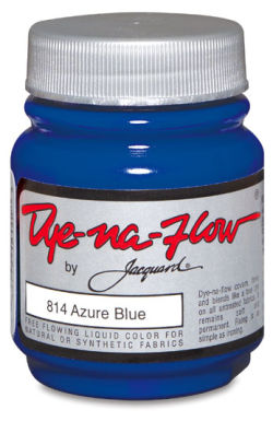 Jacquard Dye-Na-Flow Fabric Color - Azure Blue, 8 oz bottle