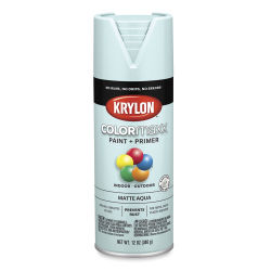 Krylon Colormaxx Spray Paint - Aqua, Matte, 12 oz