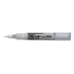 Zig Cartoonist Ultra Fine White Brush Pen (with cap off)