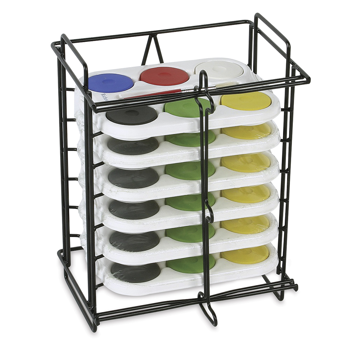 Richeson Tempera Cakes and Sets - Small Tempera Rack with 6, 6-Color Sets