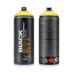 Montana Black Spray Paint - True Yellow, 400 ml can