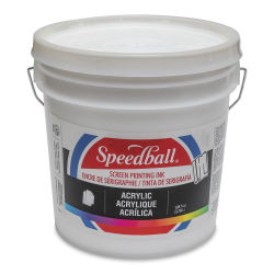 Speedball Permanent Acrylic Screen Printing Ink - White, Gallon