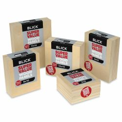 Blick Super Value Wood Panel Pack, Assorted Sizes Shown