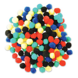 "Krafty Kids Pom Poms - Primary Colors, 1/2"", Mini, Package of 150"