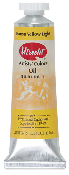 Utrecht Artists' Oil Paint - Hansa Yellow Light, 37 ml tube