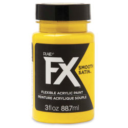 Plaid FX Smooth Satin Flexible Acrylic Paint - Fool's Gold, 3 oz