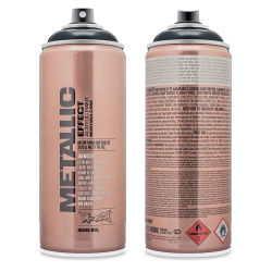 Montana Metallic Effect Spray Black  Front and Back of Can