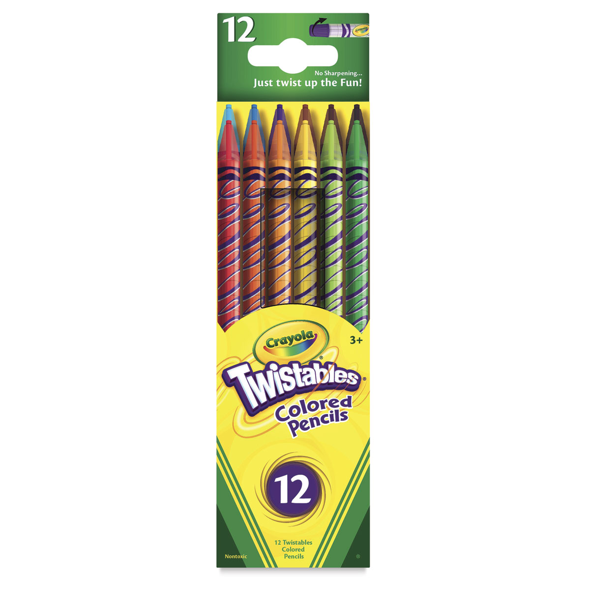 Crayola Twistables Colored Pencil Set - Vibrant Colors, Set of 18