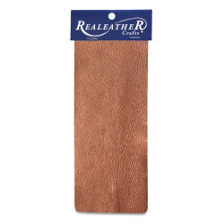 Realeather Metallic Leather Trim - Copper, 9'' x 3''