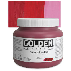 Golden Heavy Body Artist Acrylics - Quinacridone Red, 32 oz Jar