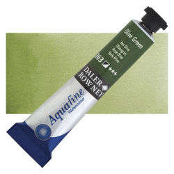 Daler-Rowney Aquafine Watercolors and Sets - Olive Green, 8 ml, Tube