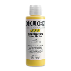 Golden Fluid Acrylics - Benzimidazolone Yellow Medium, 4 oz