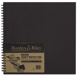 Borden & Riley #840B Kraft Sketchbook - 9'' x 9'', 50 sheets, Spiral Bound