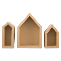 Shadow Box Shapes - Set of 3 Nested Houses