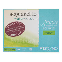 "Fabriano Artistico Enhanced Watercolor Block - Traditional White, Rough Press, 9"" x 12"""