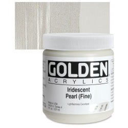 Golden Heavy Body Acrylic Paint - Iridescent Pearl (Fine), 8 oz Jar
