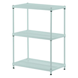 Design Ideas MeshWorks Shelving Units - Sage, 3-Tier