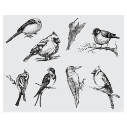 Mayco Designer Silkscreens - Small Birds