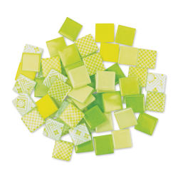 Mosaic Mercantile Patchwork Tiles - Lemon/Lime, 3 lb