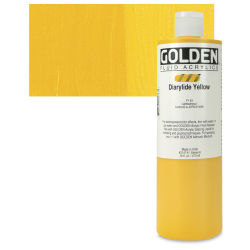 Golden Fluid Acrylics - Diarylide Yellow, 16 oz bottle