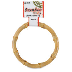 Pepperell Crafts Natural Bamboo Ring - 3''