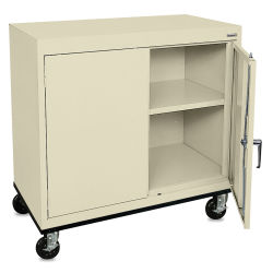 Mobile General Storage Cabinet - 36'' x 24'' x 36'', Putty