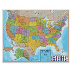 Waypoint Geographic Blue Ocean Series Wall Map - United States