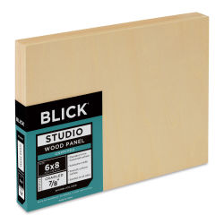 Blick Studio Artists' Wood Panels - Flat Cradle, 6'' x 8'', 7/8'' Cradle