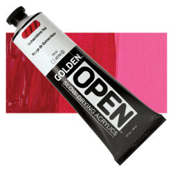 Golden Open Acrylics - Quinacridone Red, 5 oz Tube
