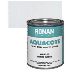 Ronan Aquacote Water-Based Acrylic Color - White White, Pint