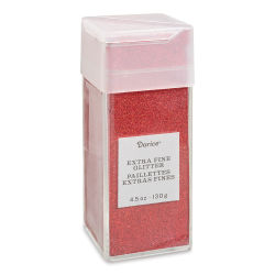 Darice Glitter - Extra Fine, Cherry Red, 4.5 oz