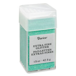 Darice Glitter - Extra Fine, Sea Green, 1.5 oz