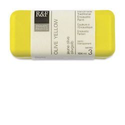 R&F Encaustic Paint Block - Olive Yellow, 104 ml block