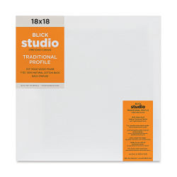 Blick Studio Stretched Cotton Canvas - 18'' x 18'', 3/4'' Traditional Profile