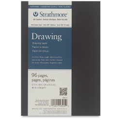 Strathmore Softcover 400 Series Drawing Art Journal - 8'' x 5-1/2'', Cream, 80 lb, 96 Pages