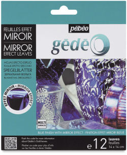 Pebeo Gedeo Mirror Effect - Blue Leaf, 12 Sheets
