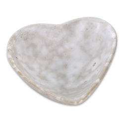Creative Co-Op Stone Heart Bowl