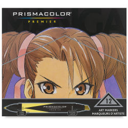 Prismacolor Premier Double-Ended Art Marker Set - Manga, Set of 12