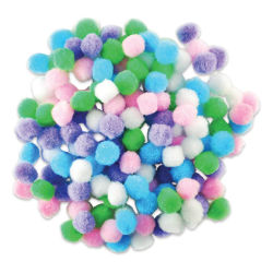 "Krafty Kids Pom Poms - Pastel Colors, 1/2"", Mini, Package of 150"