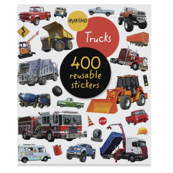 Eyelike Trucks Reusable Stickers, Book Cover