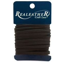 Realeather Latigo Leather Lace - Black, 3/16'' x 3 yds