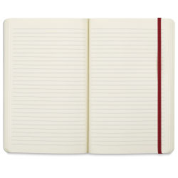 Prat Flex Notebook - 8-1/4'' x 5'', Red, Lined Pages