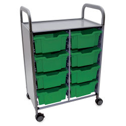 Gratnells Callero Storage Cart with 8 Deep Trays - Grass Green