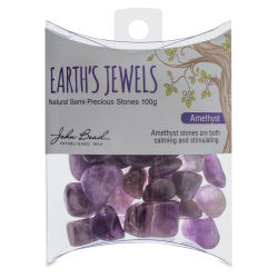 John Bead Earth Jewels Bead Assortment - Amethyst, Natural, 100g